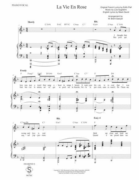 la vie en rose vocal piano key of f sheet music pdf download -  coolsheetmusic.com  download sheet music and notes in pdf format