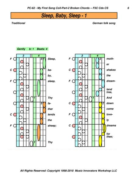 Pc 62 My First Song Collection Part 2 With Broken Chords Sheet Music PDF Download ...