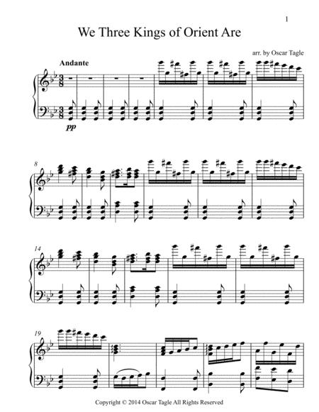 We Three Kings Of Orient Are Sheet Music PDF Download - coolsheetmusic.com