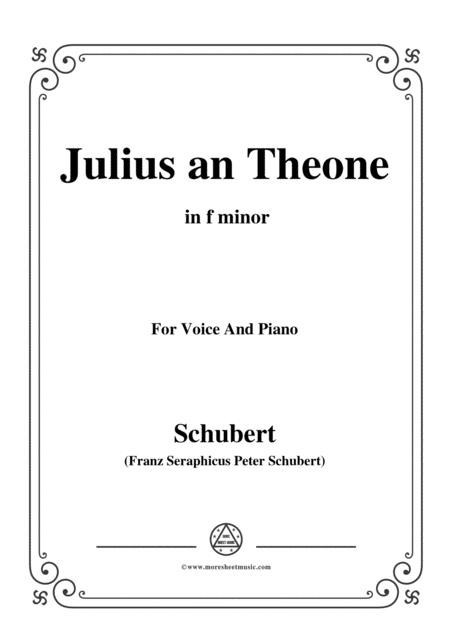 schubert julius an theone in f minor for voice piano sheet music pdf  download - coolsheetmusic.com  download sheet music and notes in pdf format