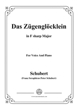Schubert Das Zgenglcklein Op 80 No 2 In F Sharp Major For Voice Piano